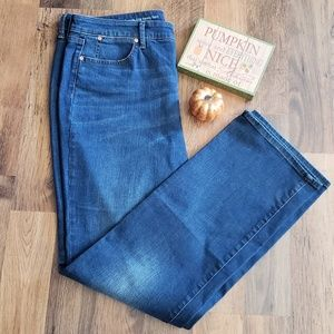 Talbots Flawless H-Rise Barely Boot Blue Jeans 14